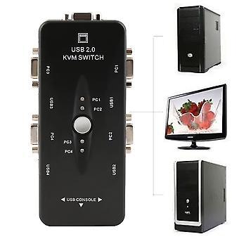 4-port USB 2.0 Kvm Switch Mouse / tastatură / vga Video Monitor Sharing 1920x1440