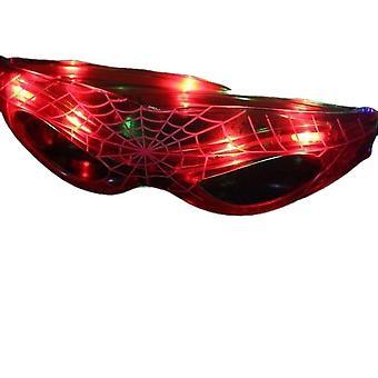 Led Spider Man lasit valoisa valo silmälasit aikuisten Cosplay Rave Festivals Halloween Baarit Klubit Juhlat