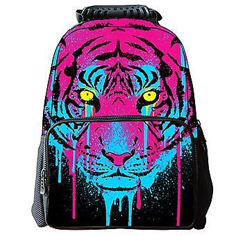Fashion 3d Tiger Print Unisex Backpack