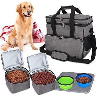 Huisdieren tas reistas voor hondenuitrusting, hond reistas om dierenvoer, speelgoed en andere vereisten te vervoeren