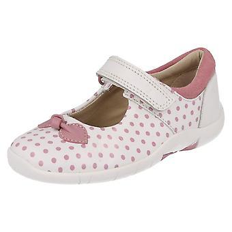 Dievčatá Clarks Polka bodkované topánky s motýľa Design Binnie bodky