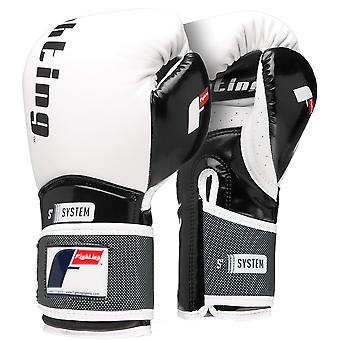 Fighting Sports S2 Gel Boxing Power Bag Gloves - White/Black