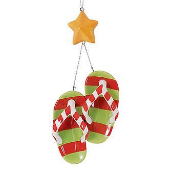 Flip Flops en Starfish keramische Christmas Holiday Ornament Cape Shore