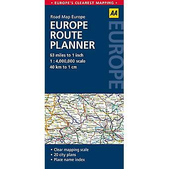AA Road Map Europe Route Planner (Map) by Aa Publishing