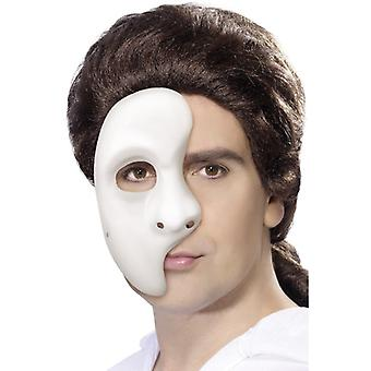 Phantom maske hvite halve maske Venezia Halloween Theatre