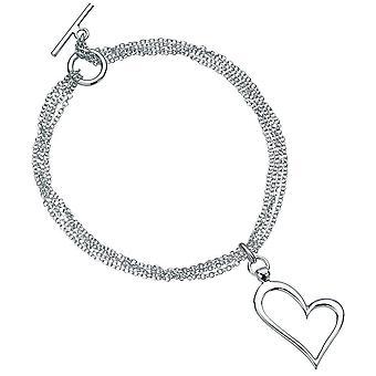 925 sølv hjertet armbånd