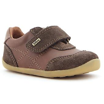 Bobux Step Up Boys Vintage Voyager Shoes Chocolate