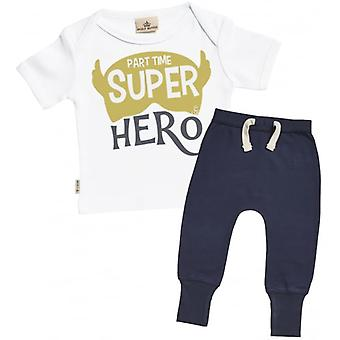 Verwend rotte part-time superheld T-Shirt & Marine Joggers Outfit Set