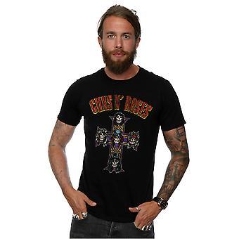 Guns N Roses Men's Appetite For Destruction Cross Arched Type T-Shirt