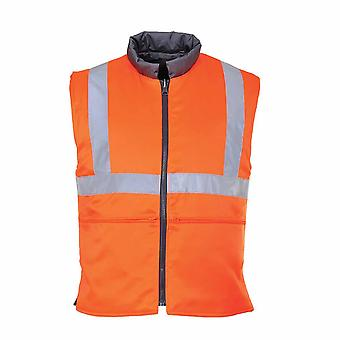 Portwest - Hi-Vis Safety Workwear Track Side Reversible Bodywarmer RIS