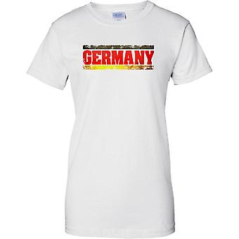 Deutschland Grunge Land Name Flag Effect - Damen-T-Shirt