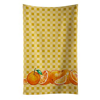 Carolines skarby BB7177KTWL pomarańcze na Ręcznik kuchenny Basketweave