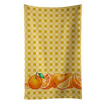 Carolines skatter BB7177KTWL apelsiner på Basketweave kökshandduk