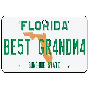 Florida - beste bestemor lisens Plate bil Air Freshener
