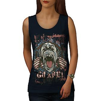 Ape Monkey Cool Women NavyTank Top | Wellcoda