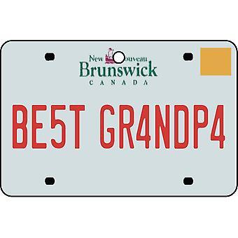 NEW BRUNSWICK - bedste bedstefar licens plade bil luftfriskere