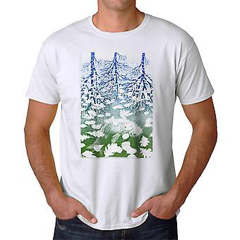 M.C. Escher Fish Pond  Men's White T-shirt