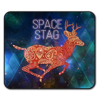Deer Head Graphic  Non-Slip Mouse Mat Pad 24cm x 20cm | Wellcoda