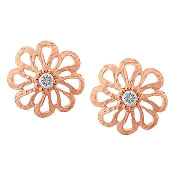 Orphelia Silver 925 Earring Rose Zirconium  ZO-6017/1