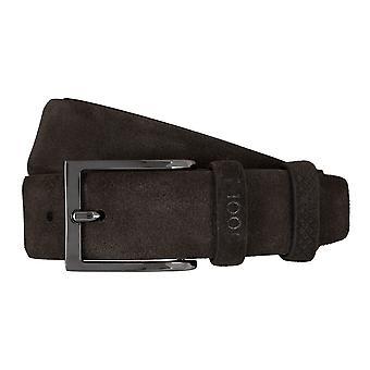 JOOP! Bälten mäns bälten läder bälte mocka brun 5908