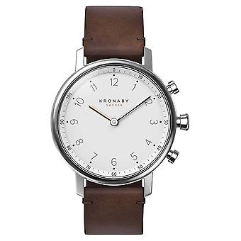 Kronaby 38mm NORD Bluetooth Brown Leather Strap A1000-0711 S0711/1 Watch