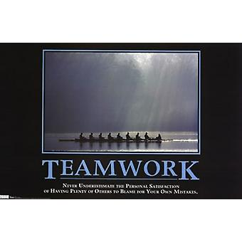 Teamwork - Motivational Poster Print