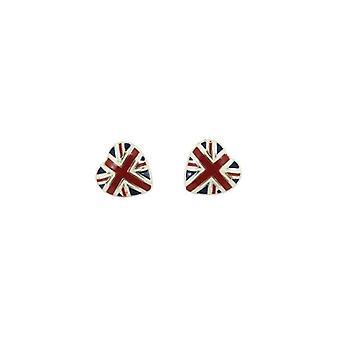 Union Jack Wear Union Jack Heart Earrings