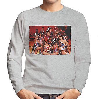 Retro-Gladiatoren mit Pugil Sticks Herren Sweatshirt