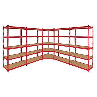 Monstre soutirage Z-Rax étagère d'angle & baies de stockage de Garage 90cm, rouge