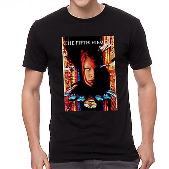 The Fifth Element Movie Poster Men's Black T-shirt