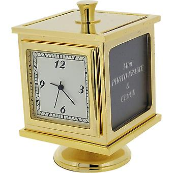 Gift Time Products Photo Cube Miniature Clock - Gold