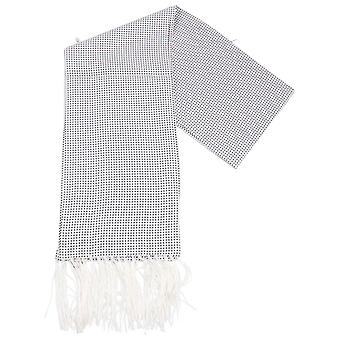 Knightsbridge Neckwear Pin Dot Dress Scarf - White