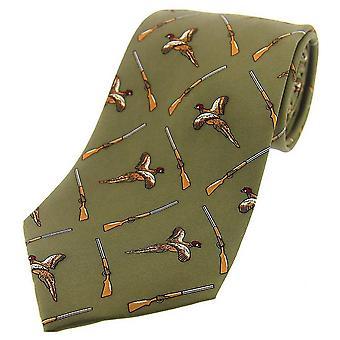 David Van Hagen battenti cravatta di seta fagiano e fucile paese - paese verde