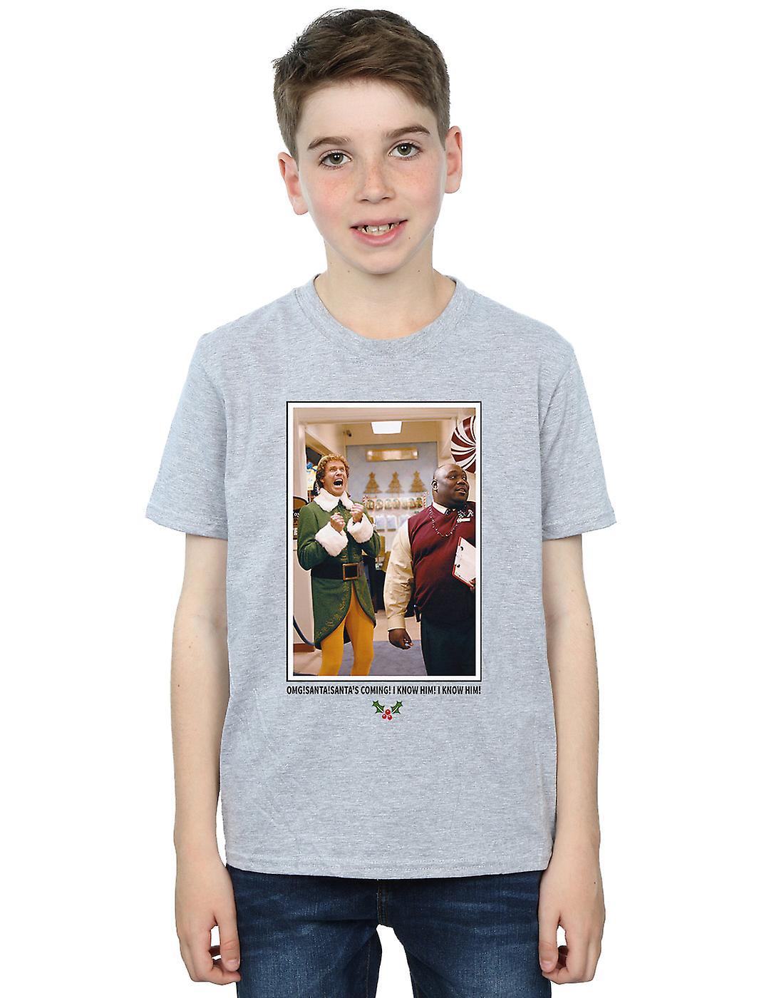 Elf Boys OMG Santa Photo T-Shirt