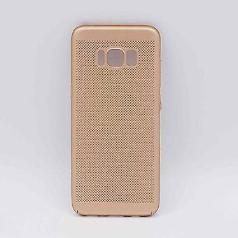For Samsung Galaxy S8-case-metal wire mesh look-gold