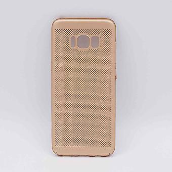 Pour Samsung Galaxy S8-affaire-metal treillis métallique d'oeil-or