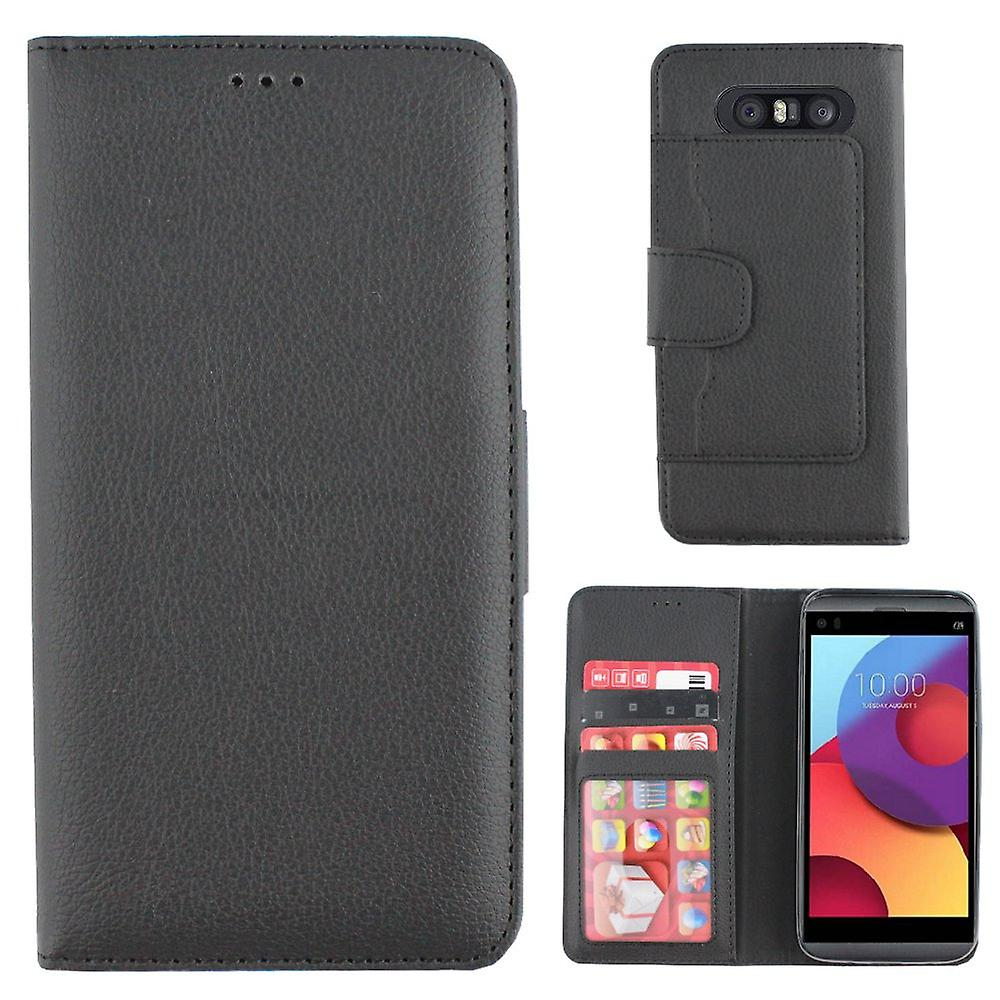 Boîte portefeuille Colorfone LG Q8 (BLACK)