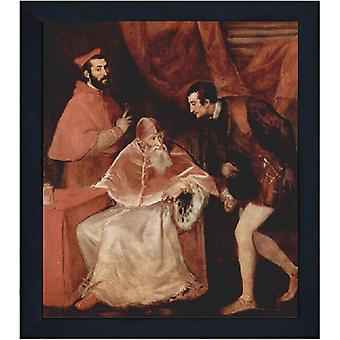 Avec Ram Pope Paul III, Titien, 61x51cm
