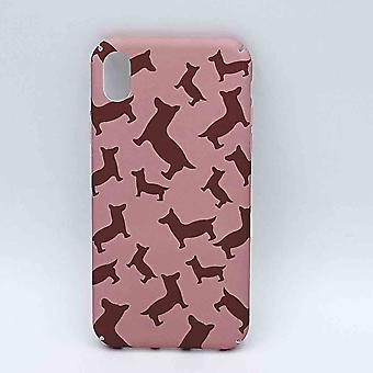 iPhone XR caso-perros en color rosa