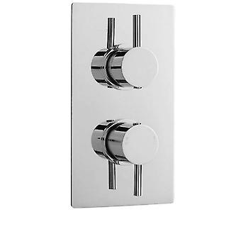 ULTRA Quest Rectangular Twin Shower Valve with Built in Diverter (Hudson Reed)
