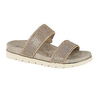 Cipriata Womens/Ladies Aletta Diamante Twin Strap Mule Sandals