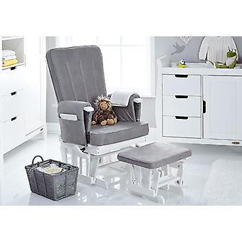 Obaby Deluxe Reclining Glider Chair And Stool