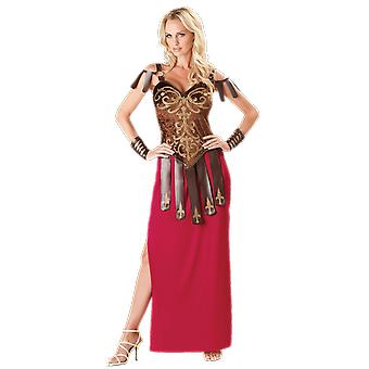 Womens Gorgeous Gladiator Warrior History Roman Greek Fancy Dress Costume