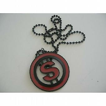 Dollar Sign Hip Hop w/ Black Chain Necklace 24 Inches