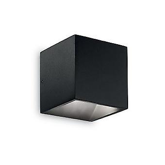 Ideal Lux - IDL142302 luz de pared LED Rubik negro