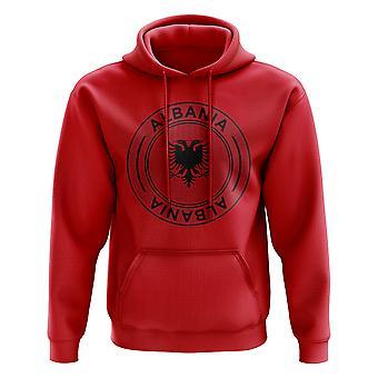 Albanië voetbal Badge Hoodie (rood)