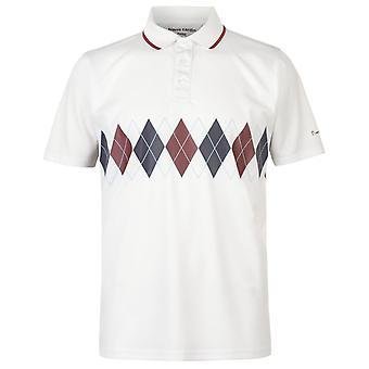 Pierre Cardin męskie Poly Argyle Koszulka Polo T Shirt Koszulka Krótki rękaw szczyty
