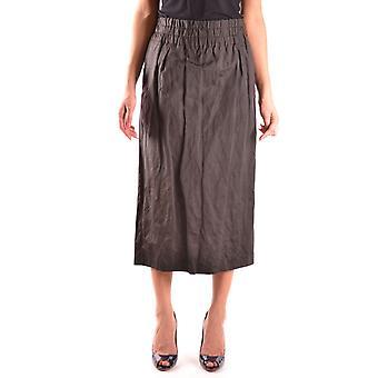 Dries Van Noten Ezbc007002 Women's Black Cotton Skirt