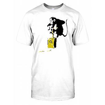Banksy - Démolition Chimp - Urban Artiste Mens T Shirt