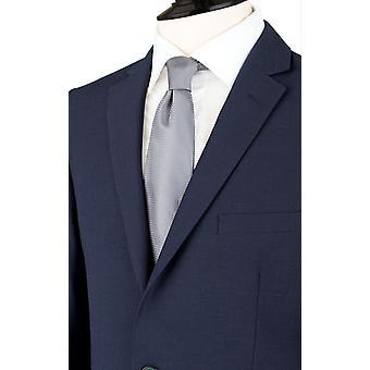 Dobell Mens Oxford Niebieski garnitur marynarka dostosowane dopasowanie Wycięcie klapy